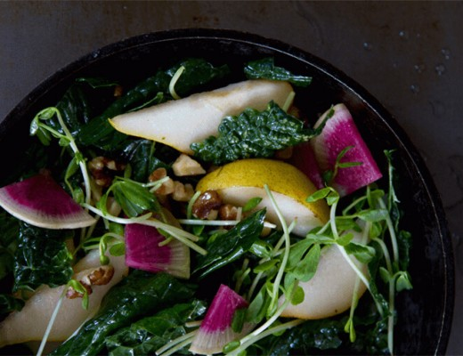 kale-salad-with-watermelon-radish-and-pear